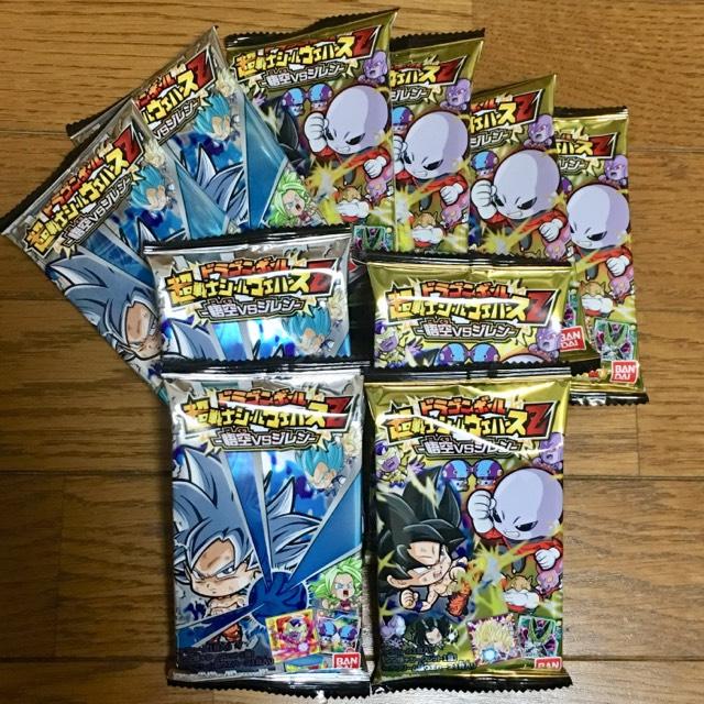 ドラゴンボール 超戦士シールウエハースZ 悟空VSジレン10パック