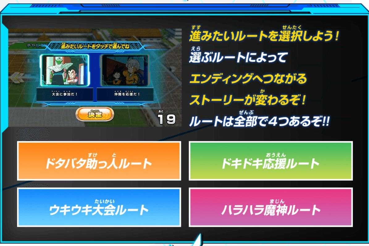 ビッグバンミッション6弾チャレンジミッション「全てのエンディングを制覇せよ!第25回天下一武道会」の概要-2